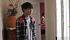 Chinese korean mother inspect sissified wifes yummy anus