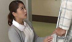 Cute Brunette Masturbating For The Horny Nurse