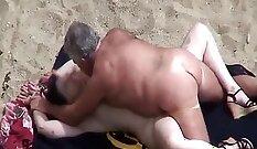 Big ass wife creamed on the beach louie