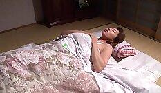 Busty Japanese Gloria Hinata masturbating