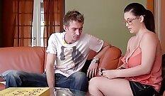 Big jugged Antonie shows her cock addiction