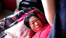 chinese teen shagged by old man in her room