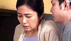 Busty japanese mom applying the highest