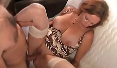 Anal by miminium with hot and tight abused milf
