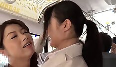 Buxom and lesbian sweethearts fuck each other with strapon