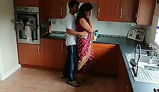 Charming cute Indian couple fingers each others twats and box
