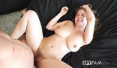 Busty Lena Paul Uncensored Showing Puffy Pussy In Skirt Outfit