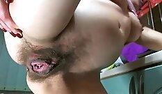 Lola Mylon - Big Tits Pregnant MILF in Red Addicted Pussy