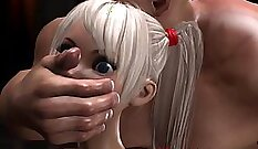 Aroused teen with hairpulling getting her slit banged