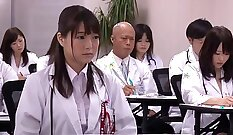 Busty Japanese Chick Gangbanged At Hire
