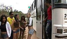 bus party crush,brazilian sex bomb,body shorts