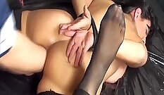 Amazing old bdsm princess anal fisting and rough milf spanking