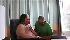 Brutal Grandmother Blackmailed at The Office By Her Uncle