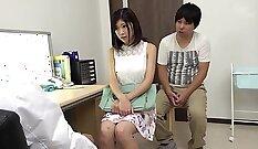 Athletic Japanese Girl fucked in white nurse mask