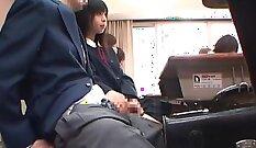 Bootylitious Japanese schoolgirl gets her soaking wet cunt fucked
