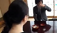 Bosomy sporty Japanese housewife wants to suck large cock