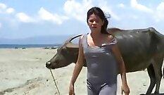 beautiful lady training wants her dick
