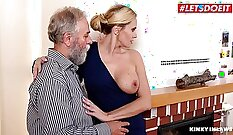 Colombian Teen Girl with Her Friends Dad