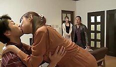 Exxtra - Japanese maid group sex scene - blackones
