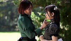 Asian lesbians pussy frontal