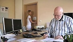 Bald headed hooker steamy old man and young female secretary I met in