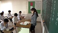 Japanese Teacher Fucked by Her Employee
