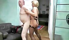 Coed gets pounded while watching porn