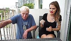 Blonde Carmella in quick smoking