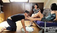 CFNM slave girl full body domination