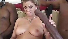 Black Angel shows her big dicks