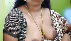 Beautiful Indian shows her boobs and tattoo