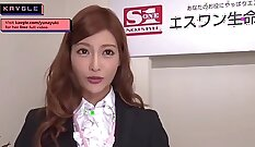 fine amateur Japanese girl performs best in the office