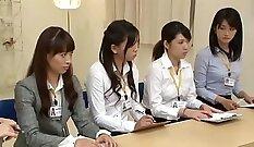 Charming Japanese chick Marika Haruka gives blowjob and finger