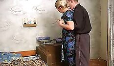 Chubby housewife getting fucked in her bare