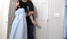 Brooke Hall Fucks herself during Porn Film