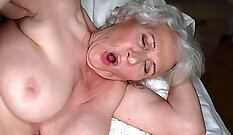 BBW granny gives POV blowjob to young strangers hubby