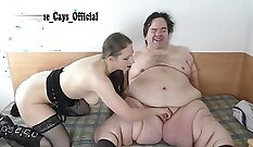 Attractive german midget rides dick like cowgirl