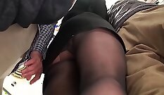 College grinding gangbang party at bus