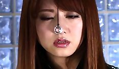 Asian musclebottom babe nailed and facialed