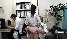 Bosomy Japanese babe Nagi Asa Akira gets poked hard by her doctor