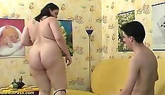 Chubby teen Phoenix gets to milk lunchtime with her boyfriend