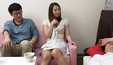 Amazing Asian banged while husband sleep