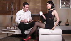Cute Boy In Over Heels Put On Naughty Nylons