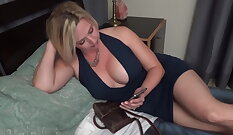 Blonde Mother in Law Fucks Her Son A Friend