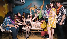 Bdsm songy orgy Students partying
