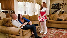 Cheerleader Spencer May Gets Freaked Out With Hung Stepfather