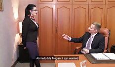 Anal fucking angel Ava Drake in interracial threesome