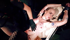 BDSM Extreme Sexual Victim Smells Herself First