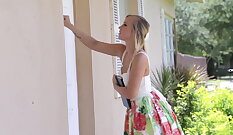 Caged stud fucked housemates daughter in spite of daddy