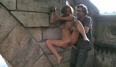 Public humiliation with big assed babe